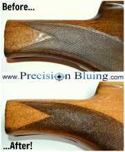 Before & After Images of Custom Gun Bluing, Gun Metal